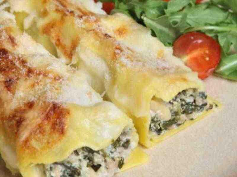 Cannellonie mit Kalb-Spinat Füllung