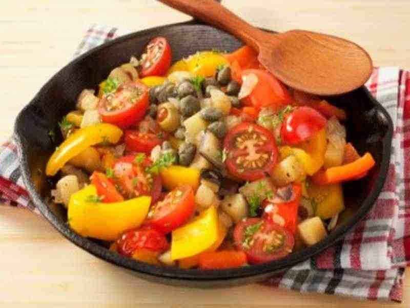 Kartoffel Gemüse Topf Caponata Rezept