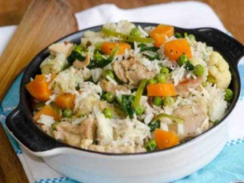 Hähnchenbrustfilet mit Gemüserisotto Rezept
