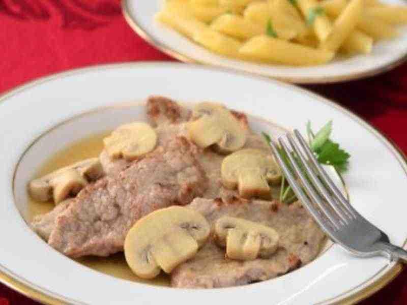 Kalbsschnitzel an Marsalasauce