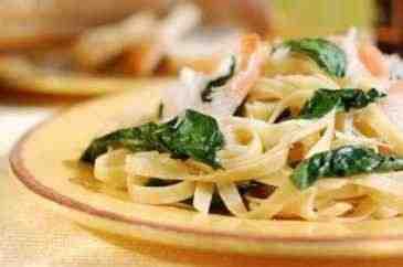 Spinat-Fettucine