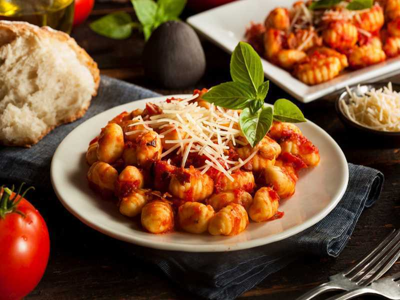 Gnocchi mit feuriger Tomaten – Cranberry Sauce Rezept