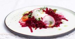 Rote-Bete-Salat mit Schafskäse