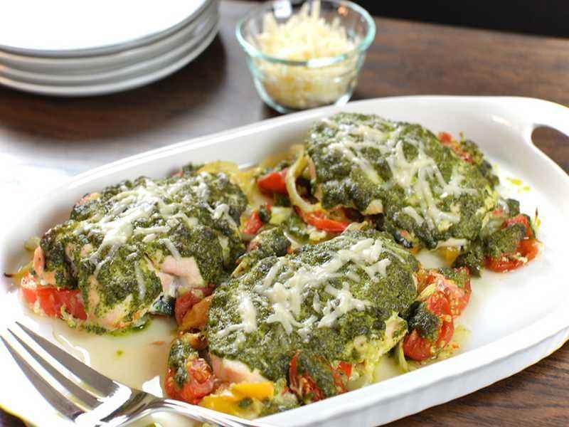 Hähnchen mit Pesto
